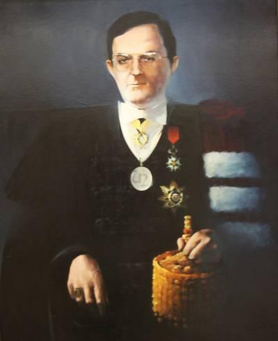 Retrato de José António Esperança Pina (pintado por Maria Velez em 1987)
