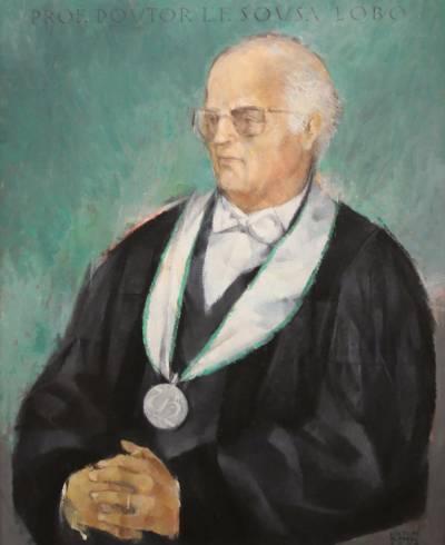 Retrato de Luís Sousa Lobo (pintado por Luís Filipe Abreu em 2004)