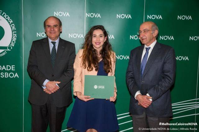 Reitor da NOVA, Maria Marrinhas - estudante de Conservação - Restauro, e Diretor da Faculdade de Ciências e Tecnologia da NOVA