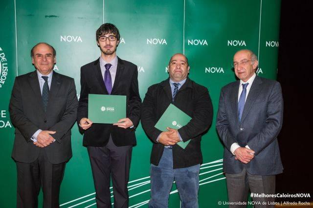 Reitor da NOVA, Paulo Santos - estudante de Matemática, Dr. Hugo Quinta do Colégio Manuel Bernardes, e Diretor da Faculdade de Ciências e Tecnologia da NOVA