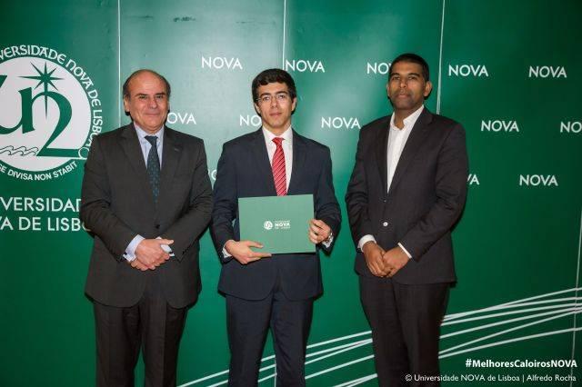 Reitor da NOVA, Luís Santos - estudante de Gestão, e Diretor da Nova School of Business and Economics