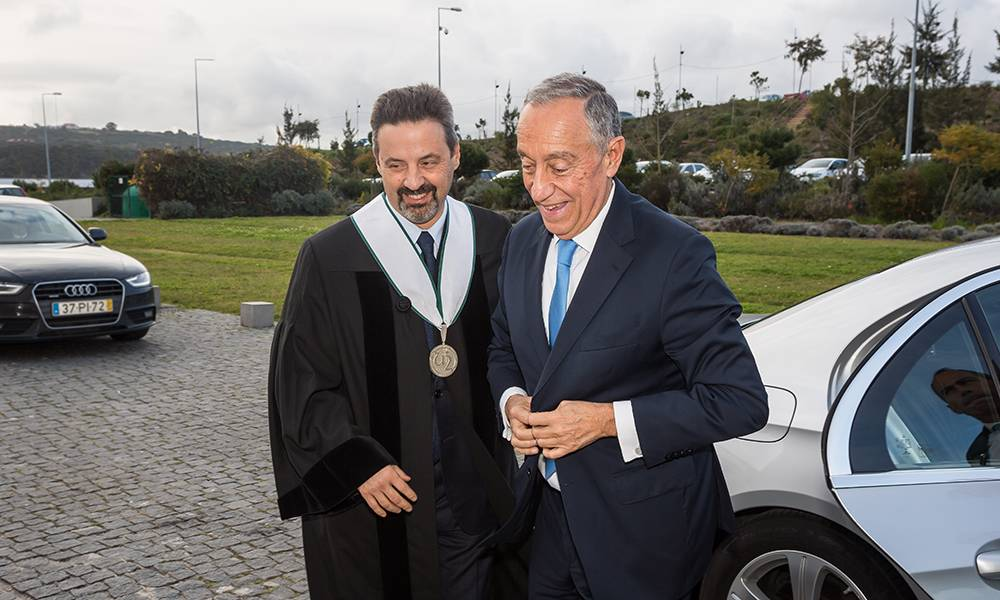 João Sàágua, Rector of NOVA and Marcelo Rebelo de Sousa, President of the Portuguese Republic