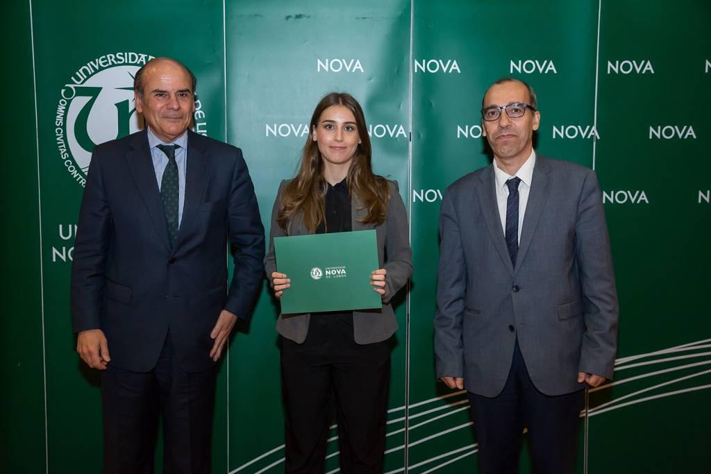 Reitor da NOVA, Ana Abigail Reis - estudante de Ciências da Linguagem, e Diretor da Faculdade de Ciências Sociais e Humanas da NOVA