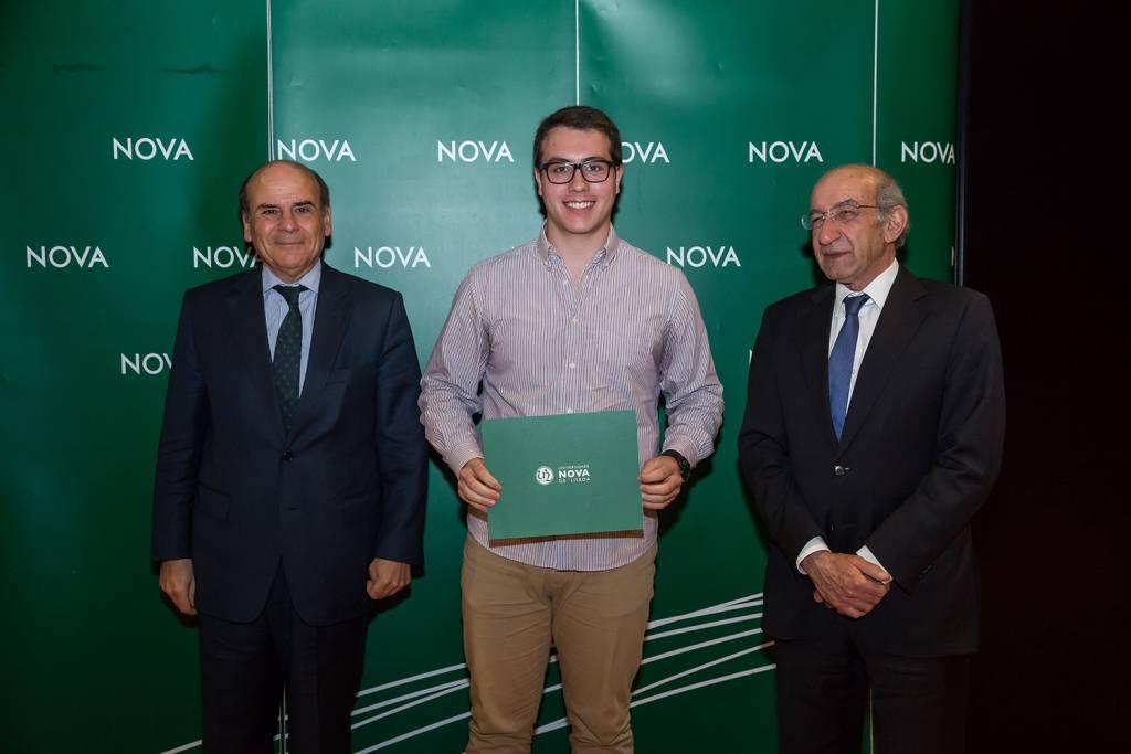 Reitor da NOVA, Iúri Simões - estudante de Engenharia e Gestão Industrial, e Diretor da Faculdade de Ciências e Tecnologia da NOVA