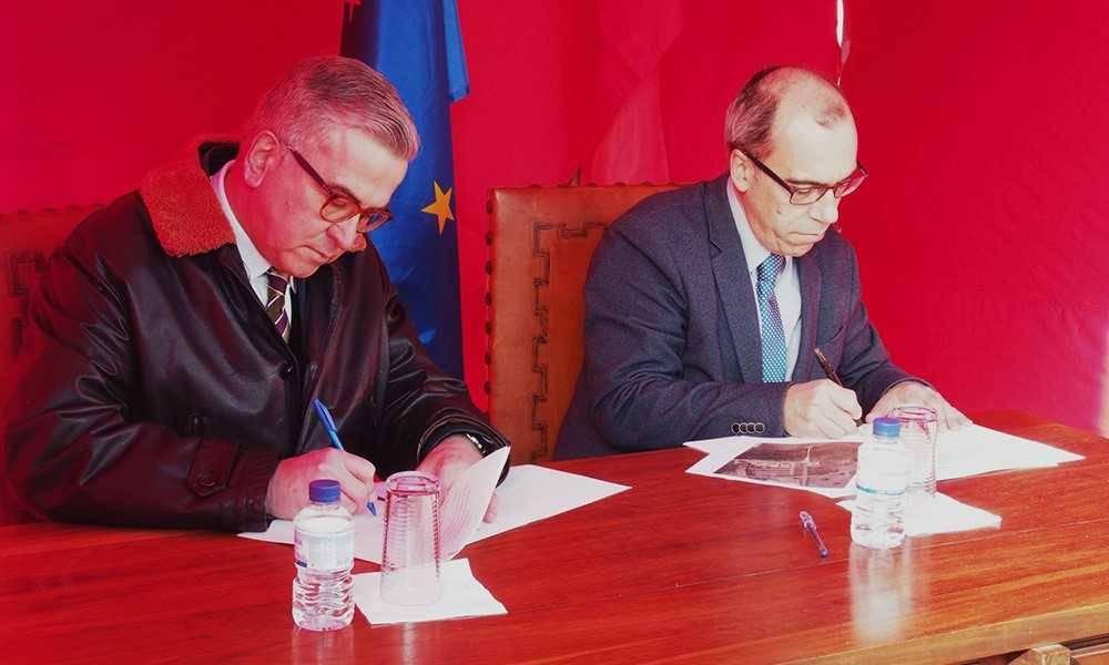 Vítor Proença, Mayor of Alcácer do Sal and Francisco Caramelo, Director of NOVA FCSH