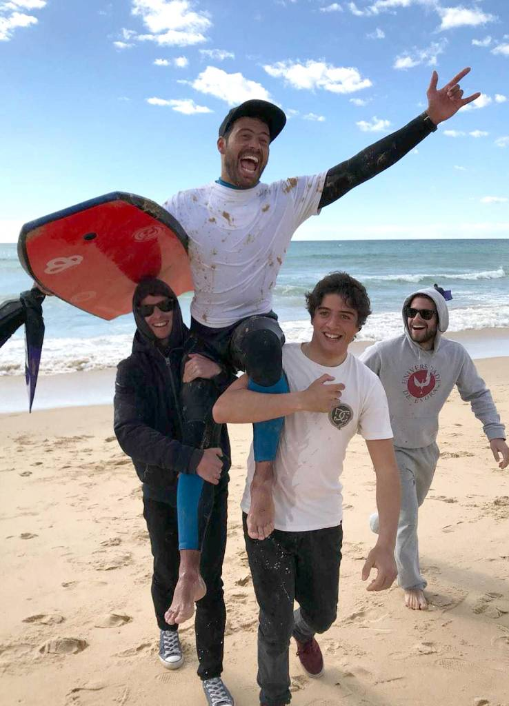 NOVA Athletes at the National University Championship of Bodyboard, in Faro