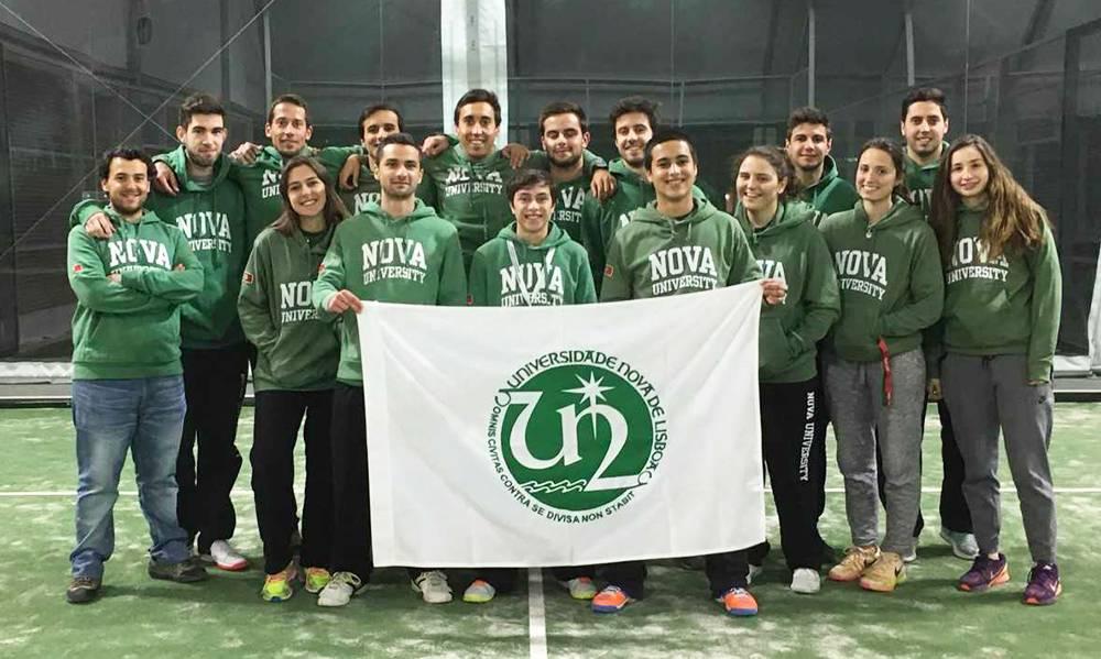 Atletas da NOVA no Campeonato Nacional Universitário de Padel no Porto