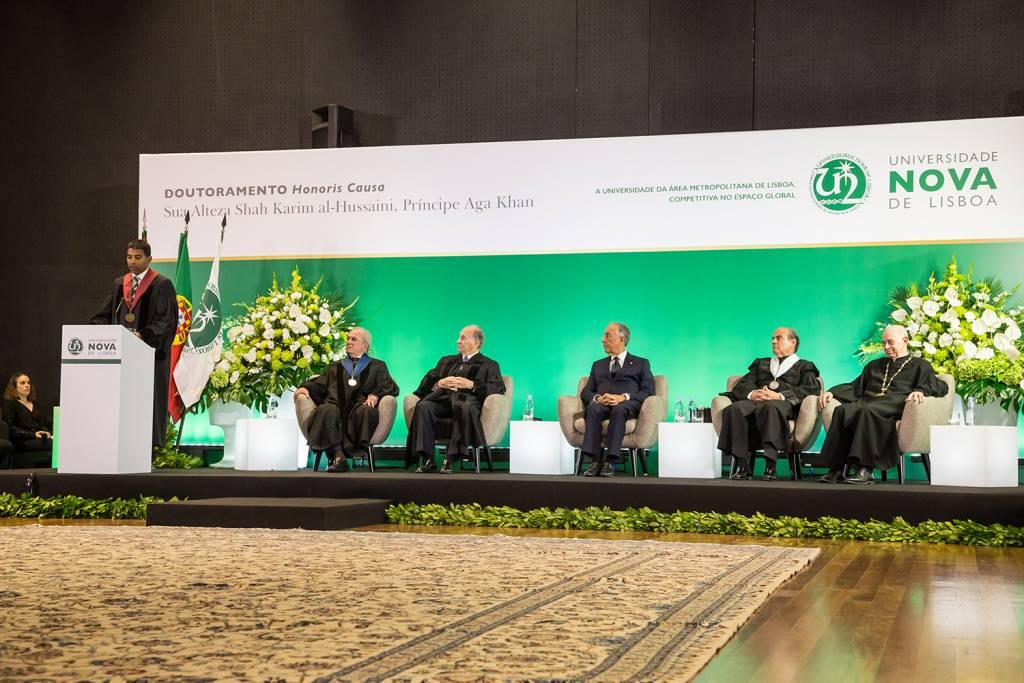 Daniel Traça, Francisco Pinto Balsemão, Prince Aga Khan, Marcelo Rebelo de Sousa, António Rendas and Eduardo de Arantes e Oliveira