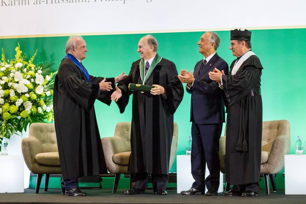 Francisco Pinto Balsemão, Prince Aga Khan, Marcelo Rebelo de Sousa and António Rendas