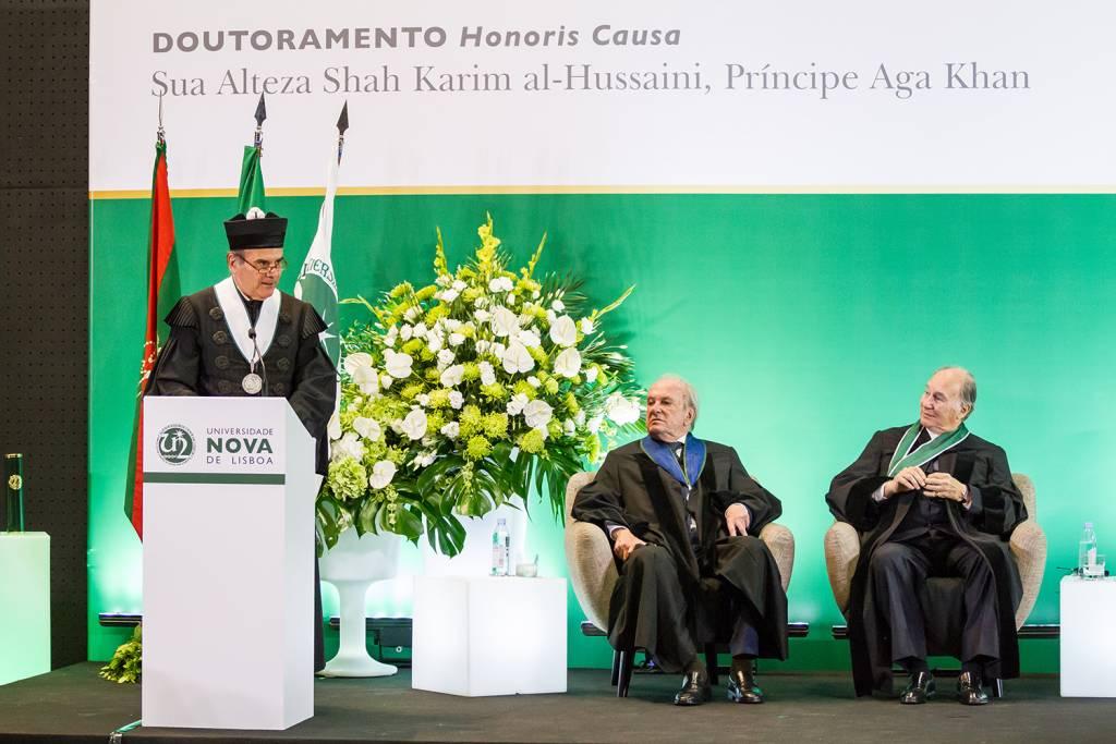 António Rendas, Francisco Pinto Balsemão and Prince Aga Khan