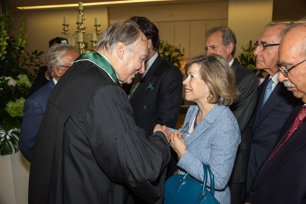 Prince Aga Khan and Maria de Belém Roseira