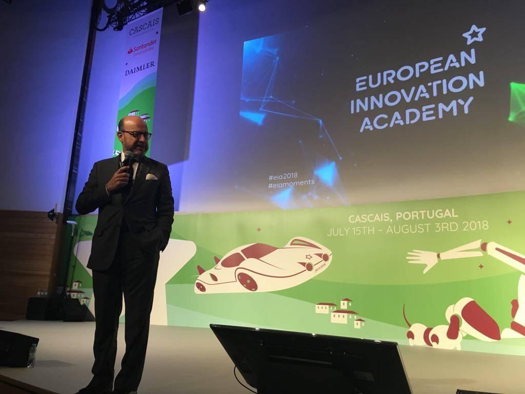 Professor José Ferreira Machado, Vice-Reitor da NOVA, na sessão de abertura da EIA 2018
