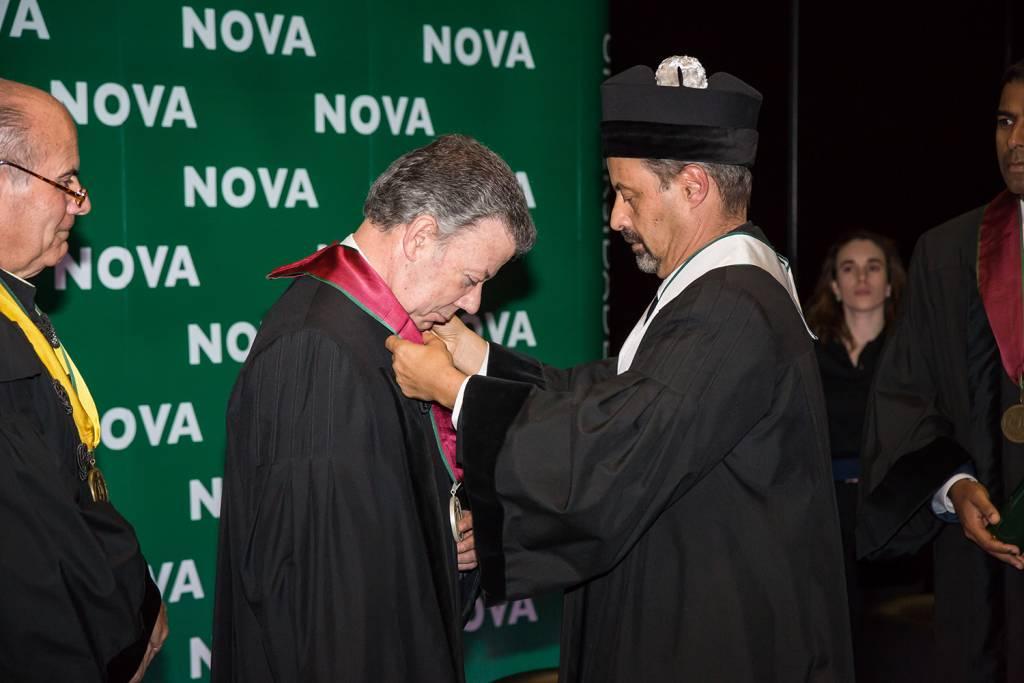 Juan Manuel Santos e João Sàágua