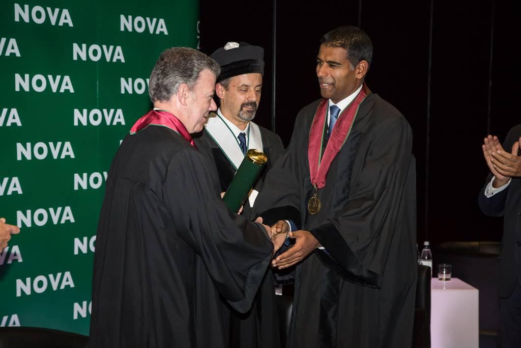Juan Manuel Santos, João Sàágua e Daniel Traça