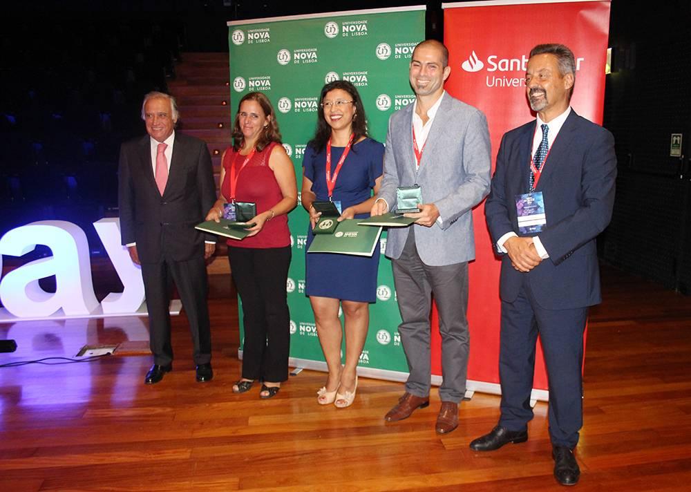 Dr. António Vieira Monteiro, Ana Margarida Ferreira, Raffaella Gozzalino, Pedro Neves e Professor João Sàágua