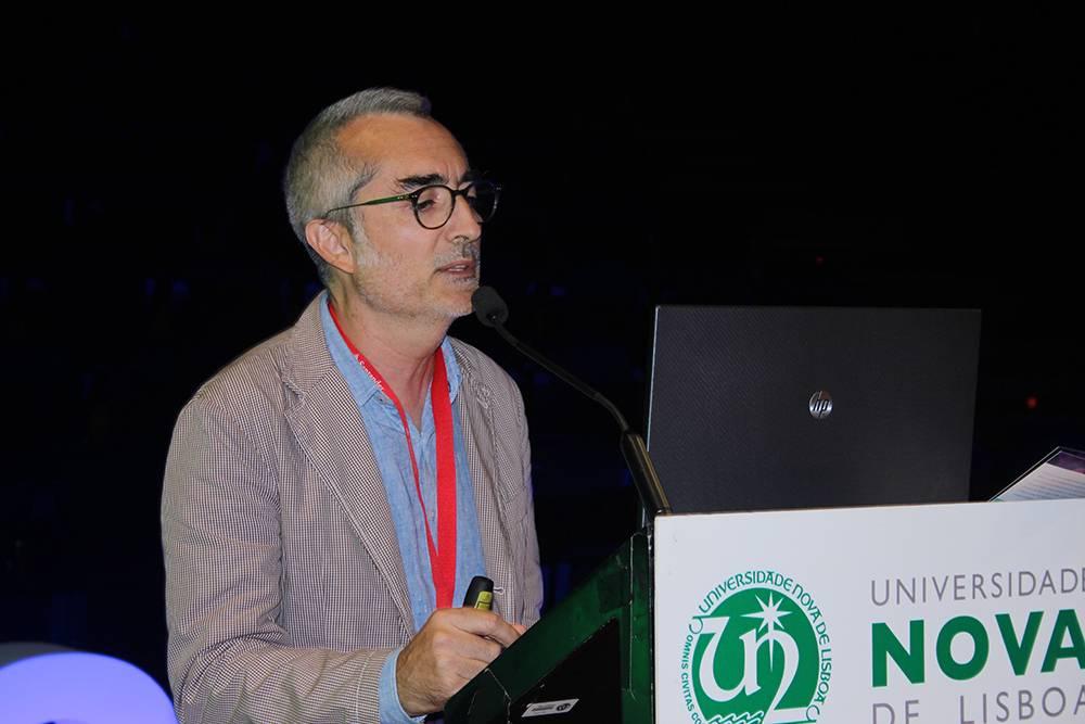 Professor Henrique Silveira, em representação do Instituto de Higiene e Medicina Tropical