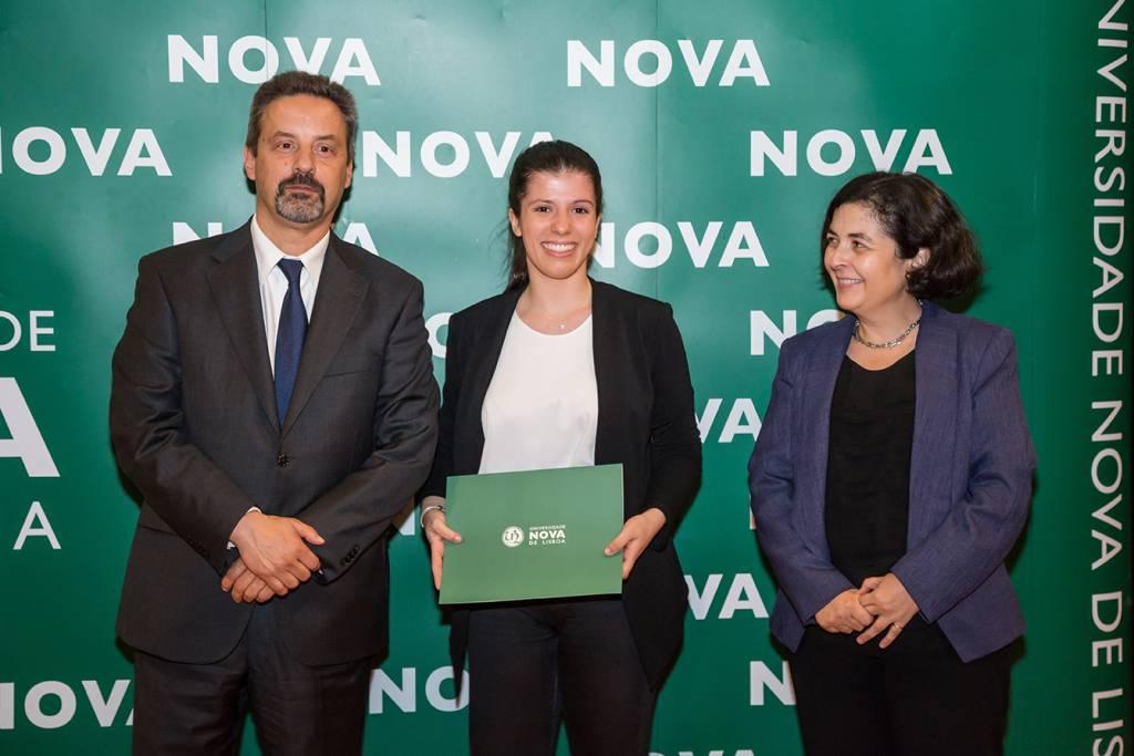 Rector of NOVA; Mafalda Teixeira (best student of Mamagement) and Ana Balcão Reis, representing Nova SBE