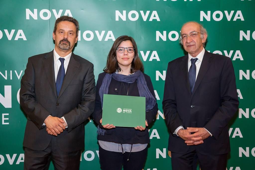 Rector of NOVA; Margarida Barbosa (best student of Materials Engineering) and Dean of FCT NOVA
