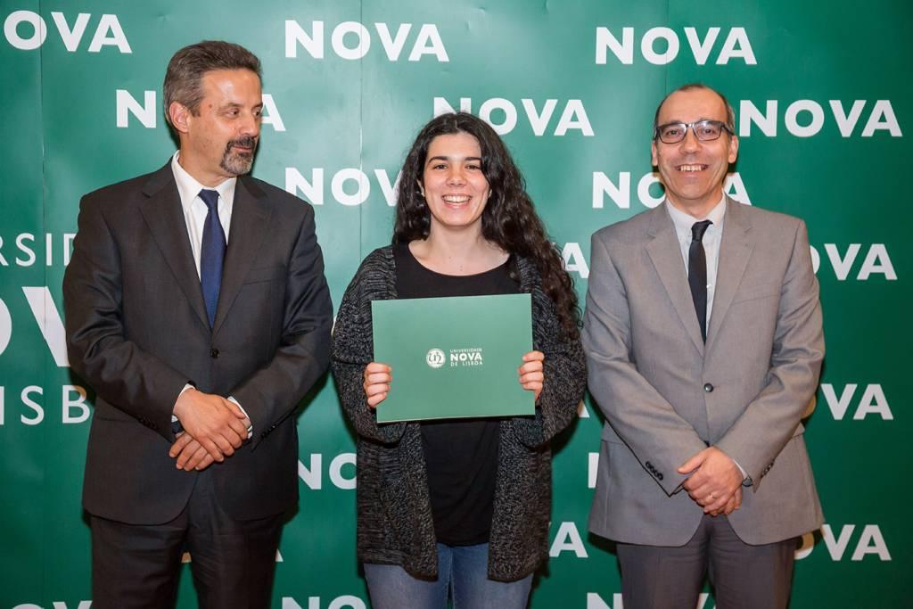 Rector of NOVA; Mariana Abreu (best student of History) and Dean of NOVA FCSH