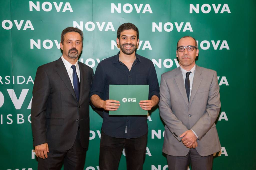 Rector of NOVA; Miguel Duarte (best student of Anthropology) and Dean of NOVA FCSH