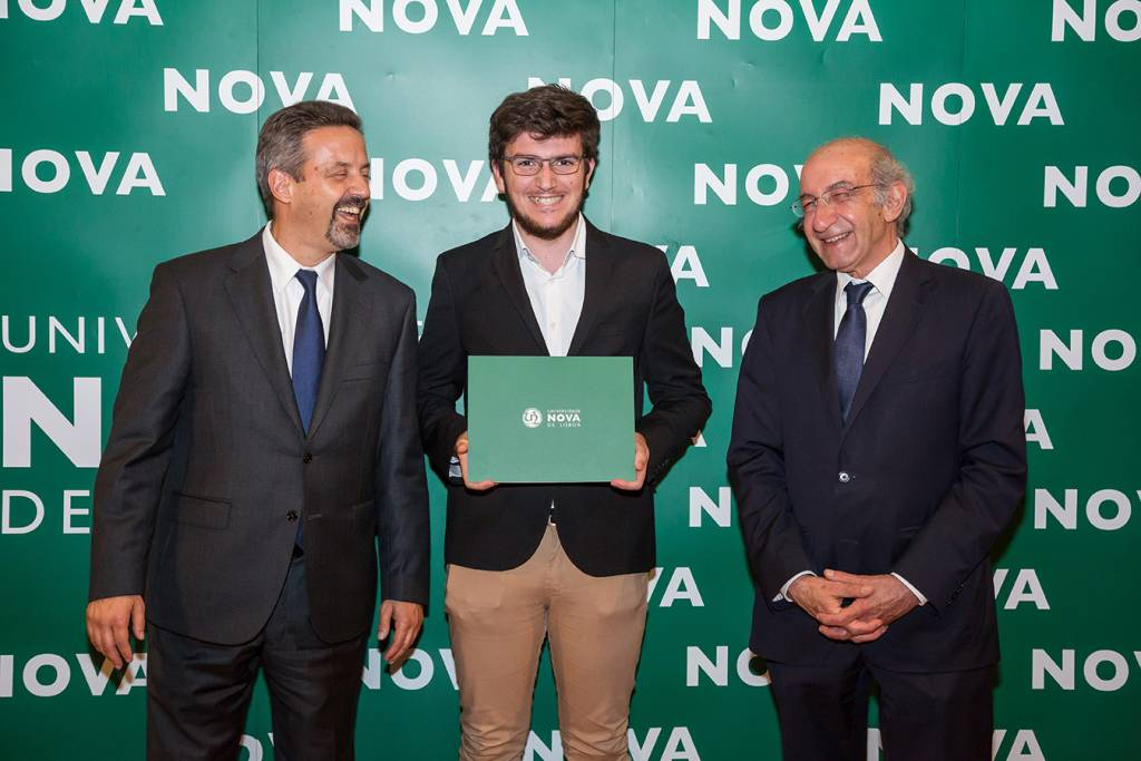 Rector of NOVA; Pedro Jacinto (best student of Civil Engineering) and Dean of FCT NOVA