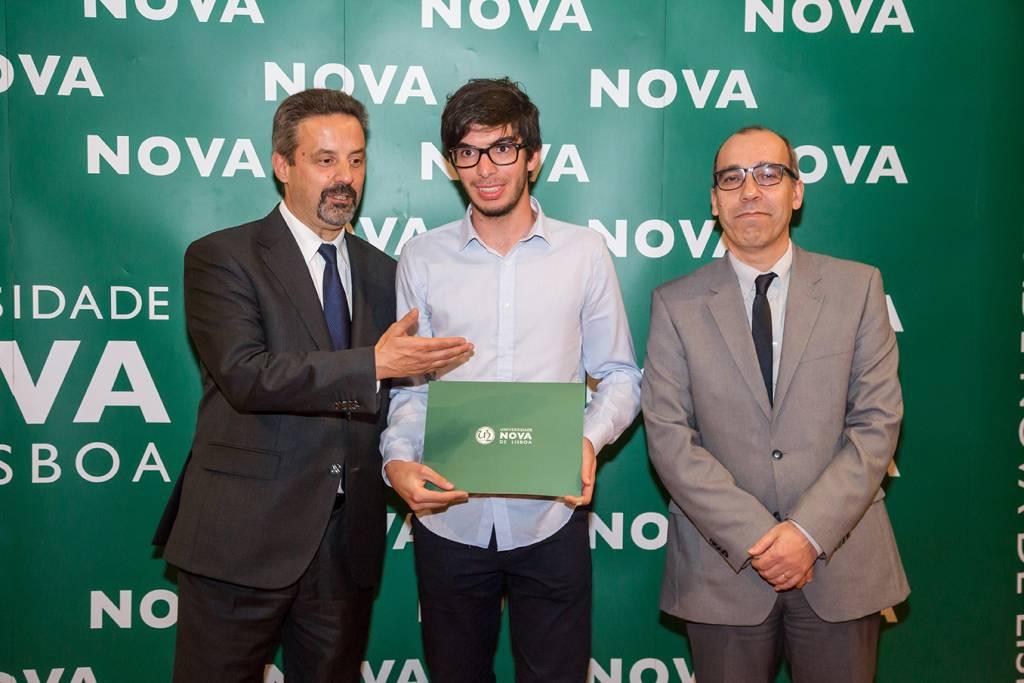 Rector of NOVA; Rodrigo Dias (best student of Archeology) and Dean of NOVA FCSH