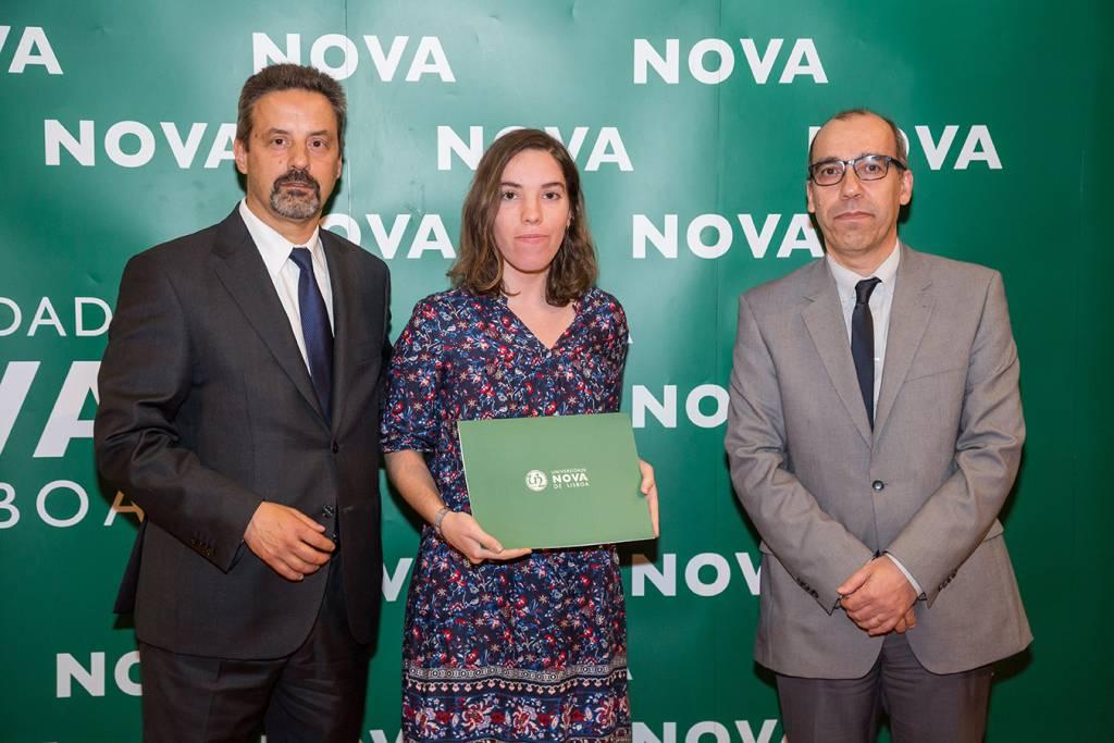 Rector of NOVA; Sofia Sequeira (best student of Portuguese Studies) and Dean of NOVA FCSH