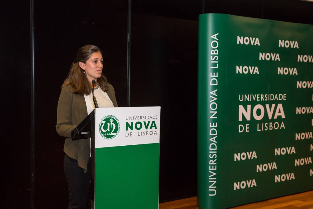 Cláudia Carvalho, former student of NOVA School of Science and Technology
