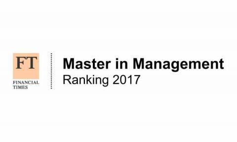 Logo do Ranking do Financial Times para os melhores Mestrados de Gestão 2017