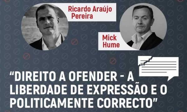 """Cartaz da sessão """"Direito a Ofender - A Liberdade de Expressão e o Politicamente Correto"""""""