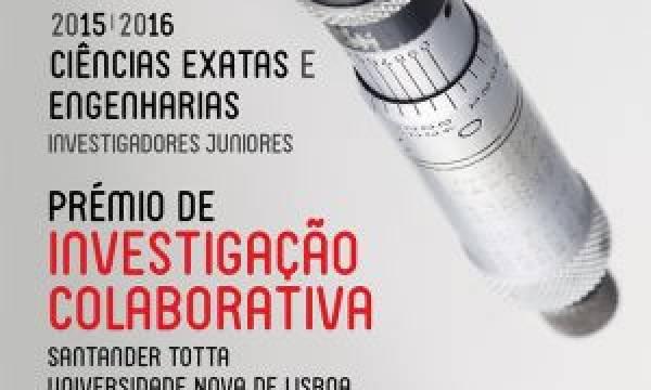 Prémio de Investigação Colaborativa Santander Totta/ Universidade NOVA de Lisboa 2015/2016