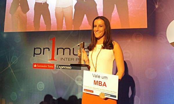 Marta Pereira, winner of Primus Inter Pares Prize