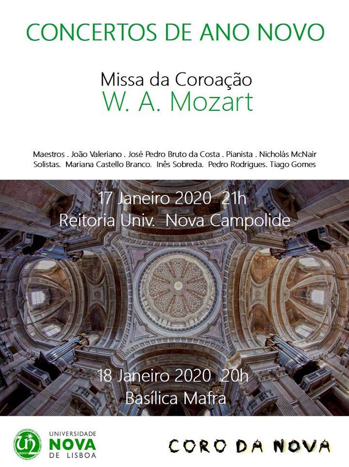 Cartaz dos Concertos de Ano Novo do Coro da NOVA