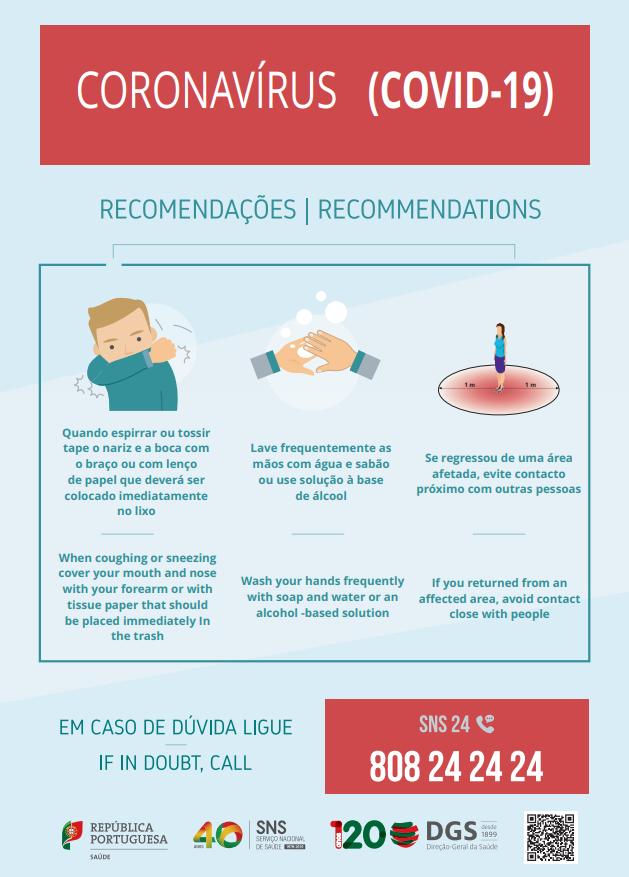 Recomendações Coronavírus