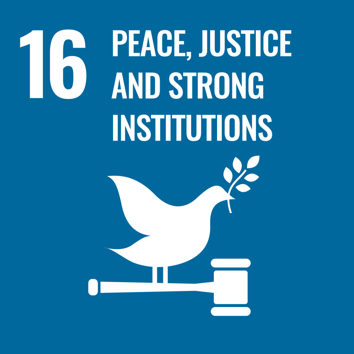 SDG 16 - Peace,Justice and Strong Institutions