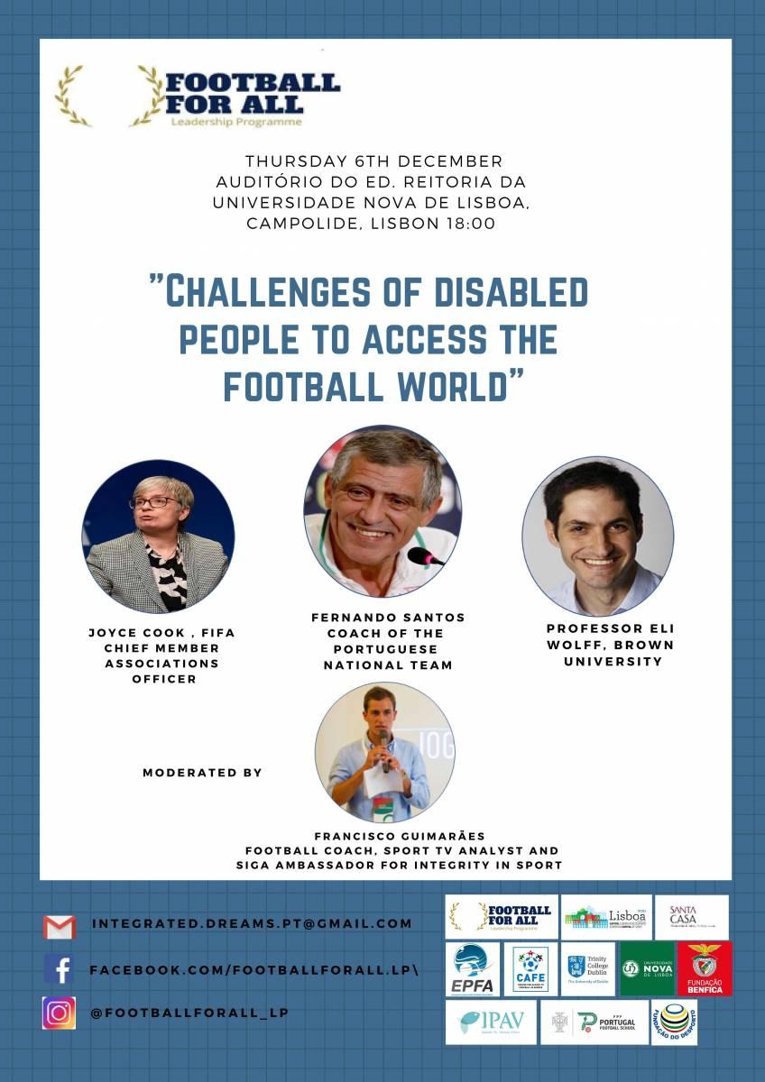 "Cartaz da Gala ""Football For All Leadership Programme"""