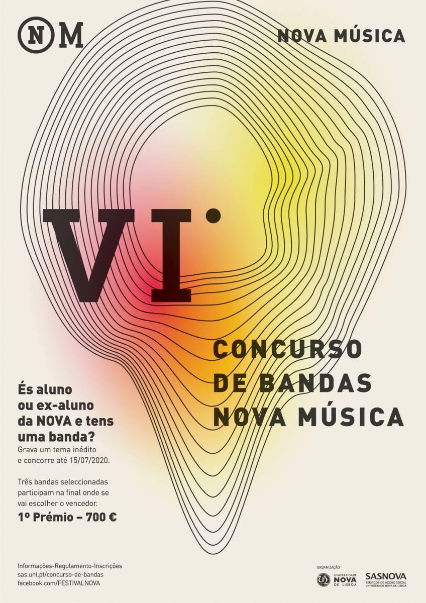 Cartaz VI Concursos Bandas NOVA Música