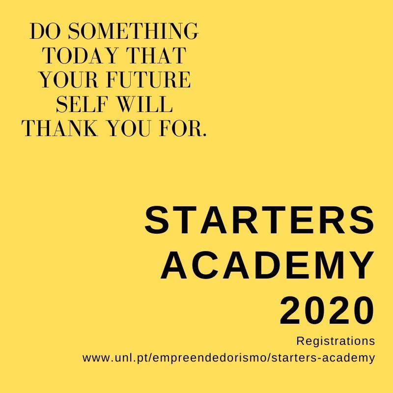 Cartaz de Promoção da Starters Academy