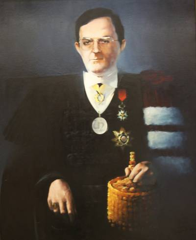 Portrait of José António Esperança Pina (painted by Maria Velez in 1987)