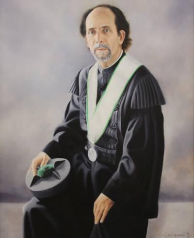 Retrato de Manuel Pinto Barbosa (pintado por Luís Guimarães em 1996)
