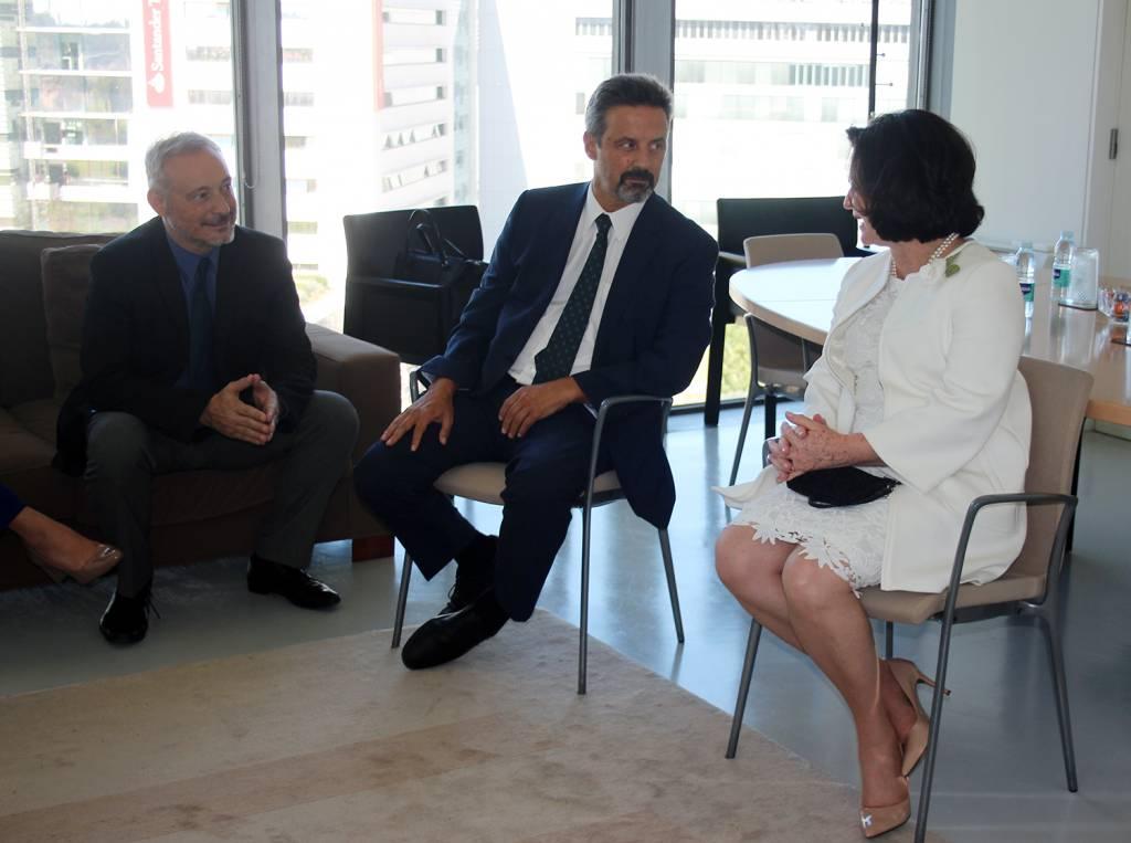 Prof. João Amaro de Matos, Vice-Reitor da NOVA; Prof. João Sàágua, Reitor da NOVA e Procuradora-Geral da República do Brasil, Raquel Dodge