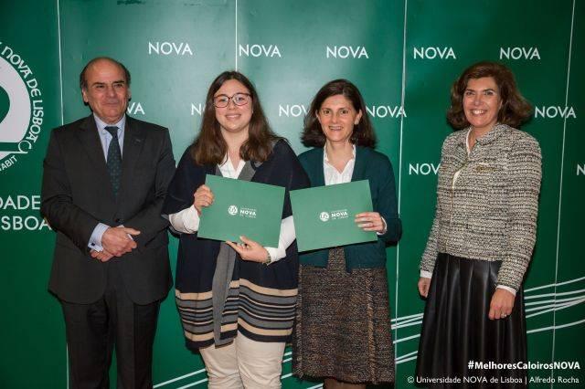 Reitor da NOVA, Maria Madeira - estudante de Medicina, Dr.ª Maria de La Fuente Lago do Colég