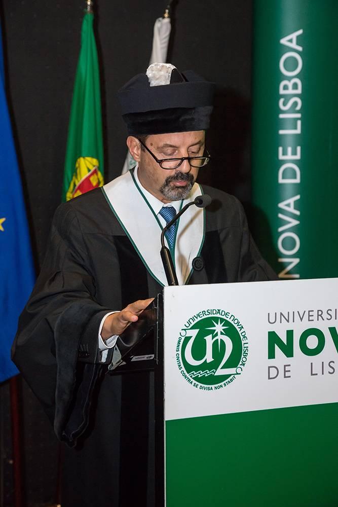 Reitor da NOVA, Prof. João Sàágua