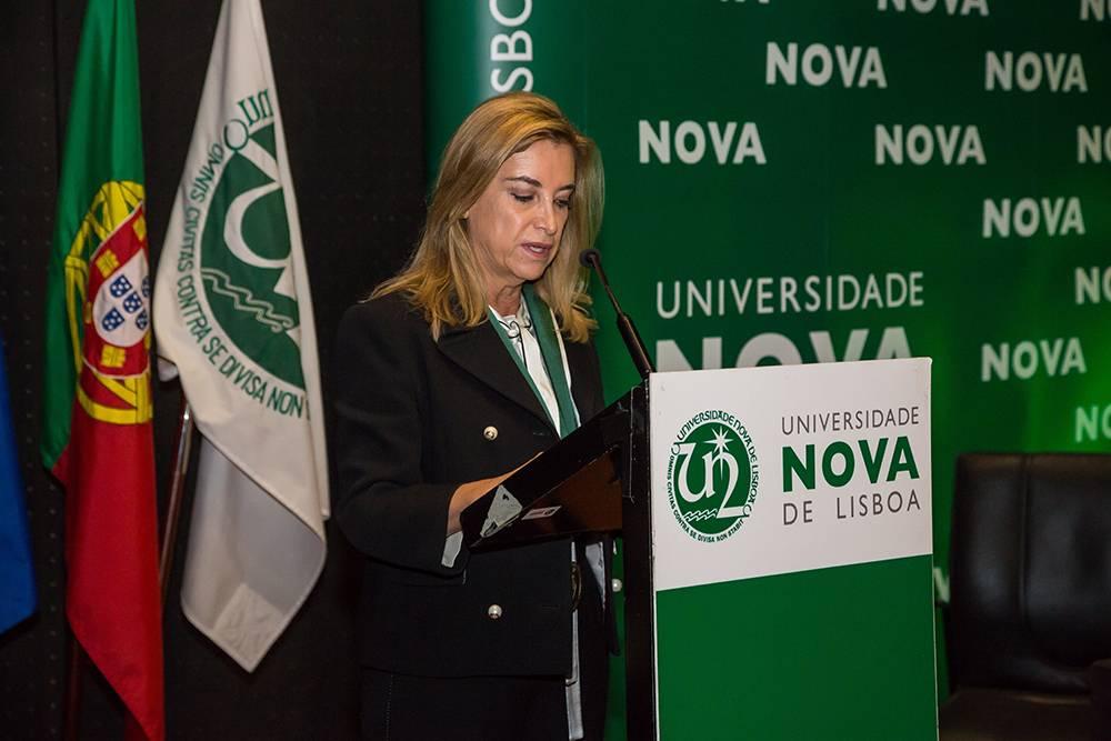 Presidente do Conselho de Conselho Geral da NOVA, Dr.ª Estela Barbot
