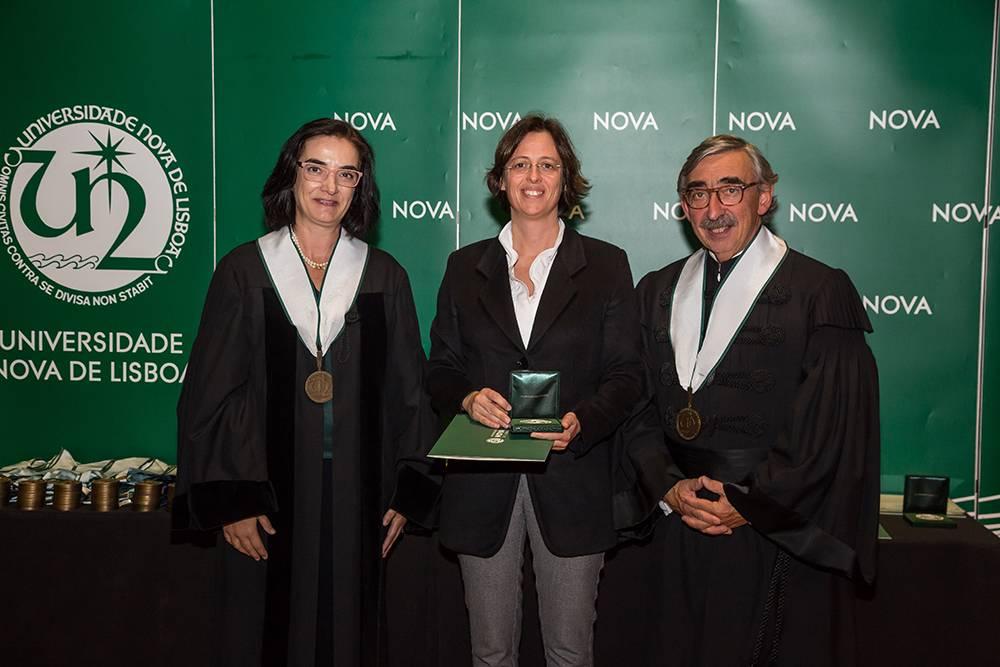 Prof.ª Elvira Fortunato, Prof.ª Mariana Gomes de Pinho e Prof. José Fragata