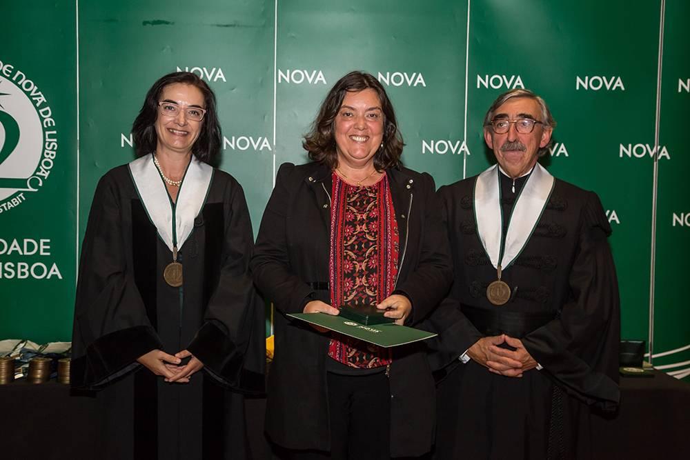 Prof.ª Elvira Fortunato, Prof.ª Isabel Ferreira e Prof. José Fragata