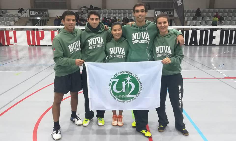 Badminton team of NOVA