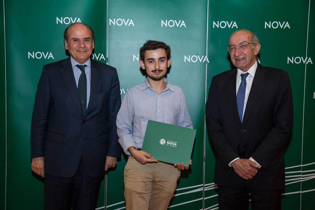 Reitor da NOVA, Diogo Sousa - estudante de Engenharia do Ambiente, e Diretor da Faculdade de Ciências e Tecnologia da NOVA