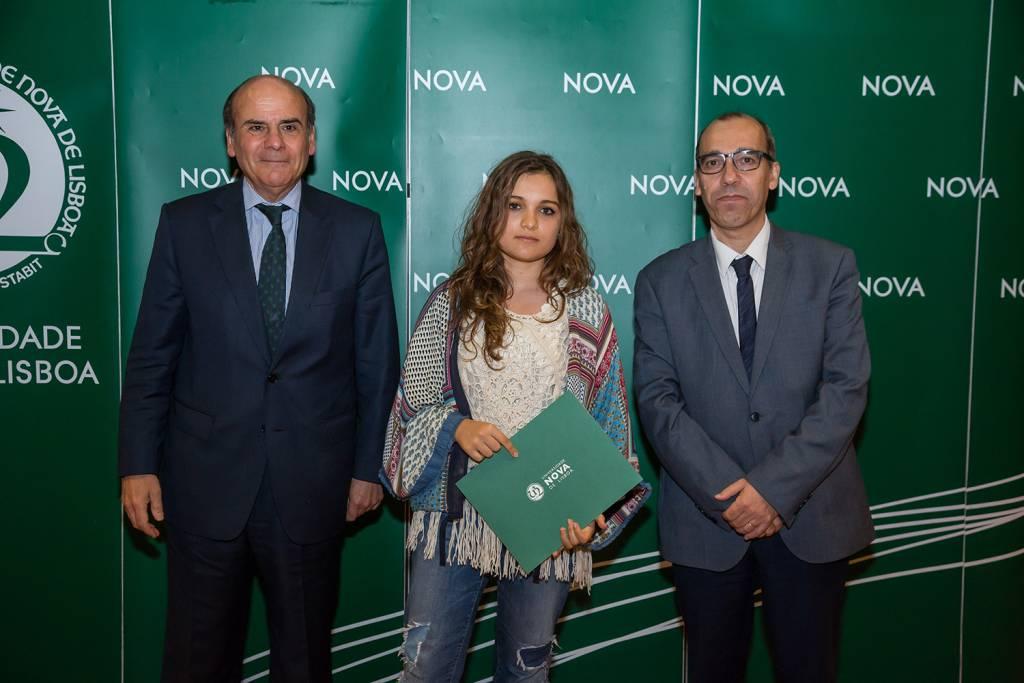 Reitor da NOVA, Mariana Correia - estudante de História da Arte, e Diretor da Faculdade de Ciências Sociais e Humanas da NOVA