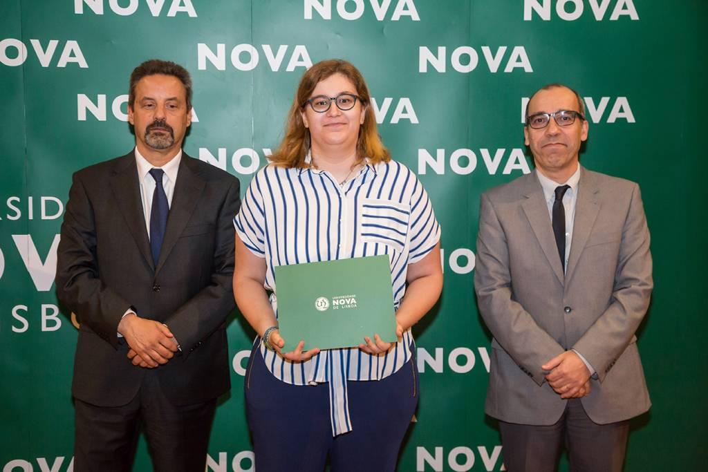 Rector of NOVA; Cláudia Amaral (best student of Languages, Literature and Culture) and Dean of NOVA FCSH